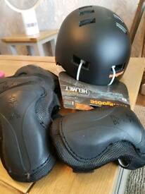 helmet size medium never worn with knee an elbow pads. cost over £60