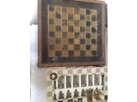 Greek chess board & pieces