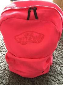 Vans fluro pink rucksack 🎒