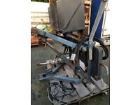 Snow plough lifting and tilting 24v hydraulic mounting frame with din plate £1200