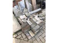 Bricks breeze blocks slab off cuts job lot