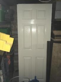 6 x painted panel doors