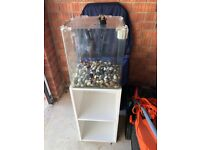 30 l fish tank with stand and accesories