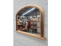 Gold Over mantle mirror (DELIVERY AVAILABLE)