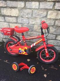 """Children's 12"""" bicycle with stabilisers"""