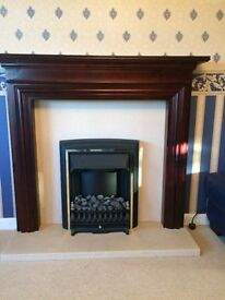Complete fireplace / fire surround with electric fire