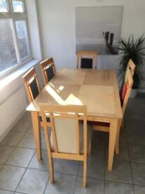 Table & 6 Chairs Set