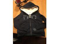 Girls Abercrombie fleece lined zip up hoodie