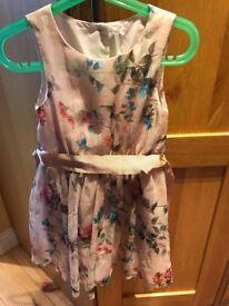 Girls pink dress (6) Next