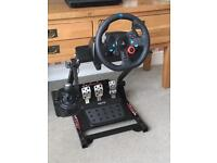 Ps4 /3/PC logitec G29 wheel, shifter & stand