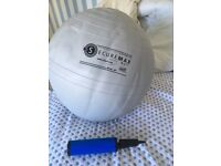 Grey Securemax ball 65cm diameter, and hand pump