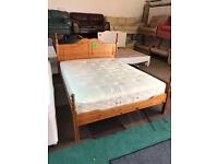 Solid king size bed with luxury Mattress