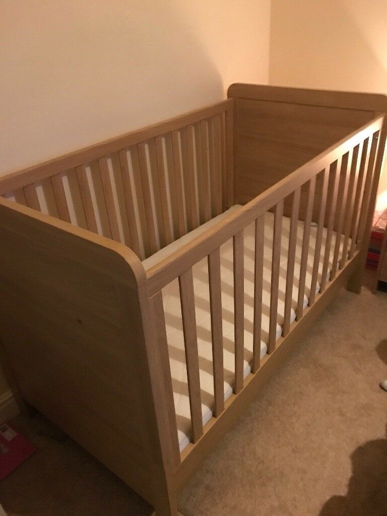 Cot bed like new with brand new luxury silent night mattress