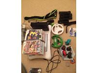 Nintendo Wii Black Console with 23 Games and Wii Fit Board