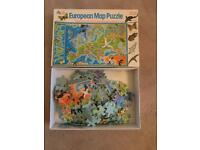 Vintage 1994 EARLY LEARNING CENTRE 150 PIECE JIGSAW - 'EUROPEAN MAP PUZZLE' complete