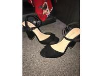 Black block heels - size 4 £10 new look