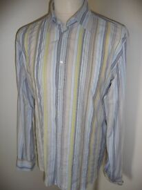 Ted Baker Multi Coloured Striped Casual Shirt XL