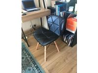 Faux Leather Retro Eiffel Style Chair