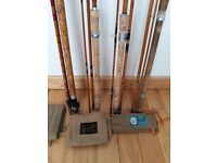 A collection of old split cane rods.