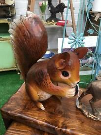 Metal squirrel. Past & Present