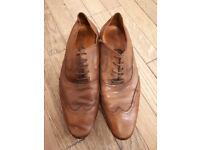 Paolo Vandini Mens Shane Baby Buff Leather Brogue Shoes (Tan) UK: 9 1/2 EU: 44