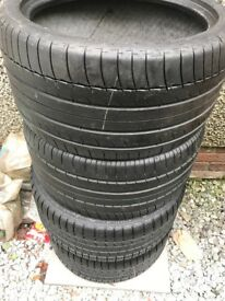 Michelin Pilot super sports 4mm tread 285/30/18