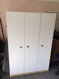 Triple door wardrobe