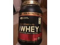 Optimum Nutrition Gold Standard Whey Protein- 4 x New- 20% extra free