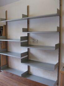 'Vitsoe 606' metal shelving system.