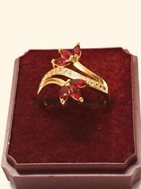 B/N 24k Gold Plated Ladies ring, size Medium,