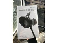 Bose Soundsport Wireless Headphones - Black - NEW, Sealed 2 yr Warranty