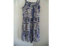 ATMOSPHERE (PRIMARK) BLUE FLORAL DRESS, SIZE 12