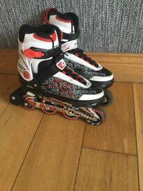 Boys/Girls - 4 Wheel Adjustable, Inline Roller Blades/Skates - Size 4-7