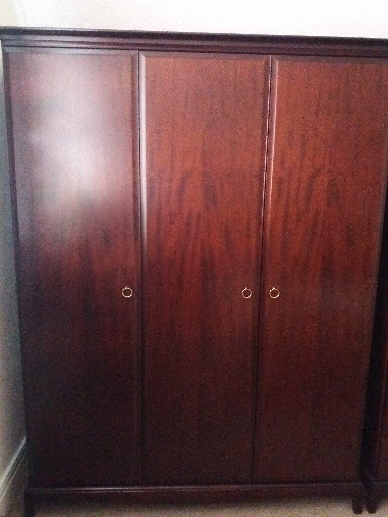 3 door stag minstrel wardrobe for sale in newcastle. Black Bedroom Furniture Sets. Home Design Ideas