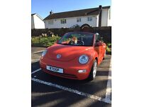 Beautiful Orange VW Beetle Convertible