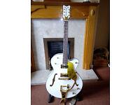 Replica rockabilly semi acoustic guitar
