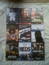 A 9 PACK/BUNDLE OF QUALITY DVDs - ALL WELL KNOWN TITLES
