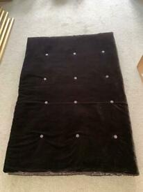 Stunning Next large luxury velvet chocolate brown throw
