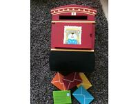 ELC wooden post box and letters