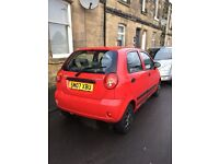 chevrolet matiz 796cc red 07 plate bargain no offers 695