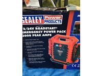 Seally jump starter power pack 12/24 v