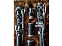 Ebonite B-flat clarinet