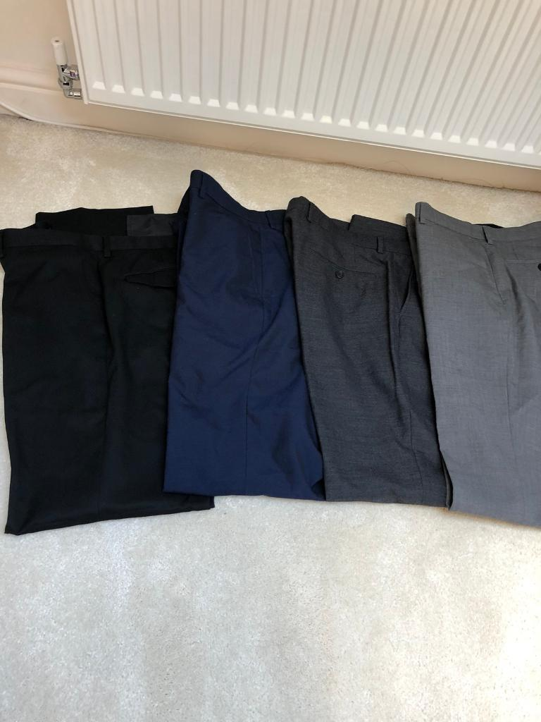 4 x Men's trousers from Next and M&S