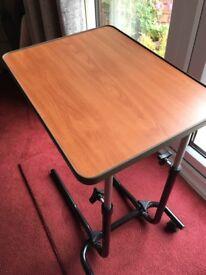 ADJUSTABLE TABLE/BEDSIDE/LAPTOP ETC