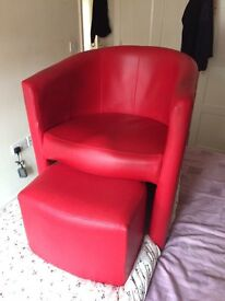 Habitat Armchair with Footrest