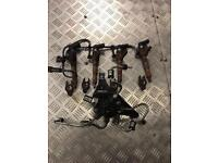 Ford Focus 1.8 tdci 2008 injectors x4 with fuel rail Engine code KKDA All the n good working order