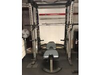 Nautilus Smith Machine cable too weights bench