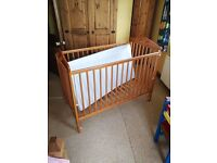Baby/Child's pine cot including mattress