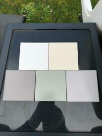 48 packs Job Lot of 10cm Tiles White Grey Cream Sage