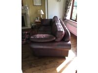 Quality large leather sofa